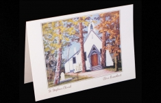 Vancouver Island - St. Stephens Church - art card