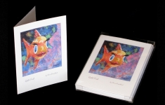 Whimsy - Goldfish - note card