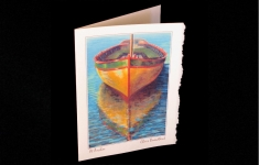 At Anchor deckled edge art card