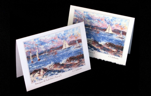 Art Card - Coastal - Down from the Yacht Club a Piece or 2