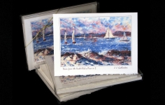 Boxed Art Cards - Down from the Yacht Club a Piece or 2