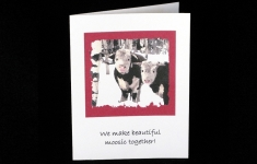 Note Card - We make beautiful moosic together - love / valentine