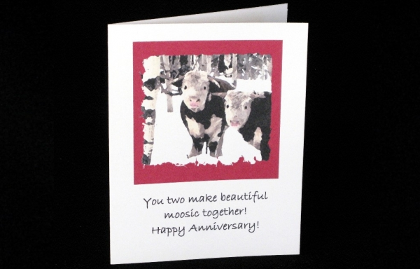 Note Card - You two make beautiful moosic together.  Happy Anniversary!
