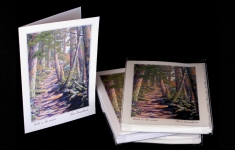 Walk in the woods boxed art card