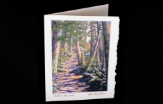 Walk in the woods deckle edge art card