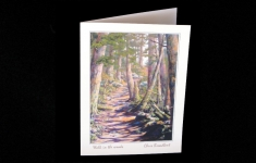 Walk in the woods straight edge art card